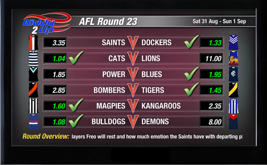 Giddy-Up TV - Sports - AFL Round